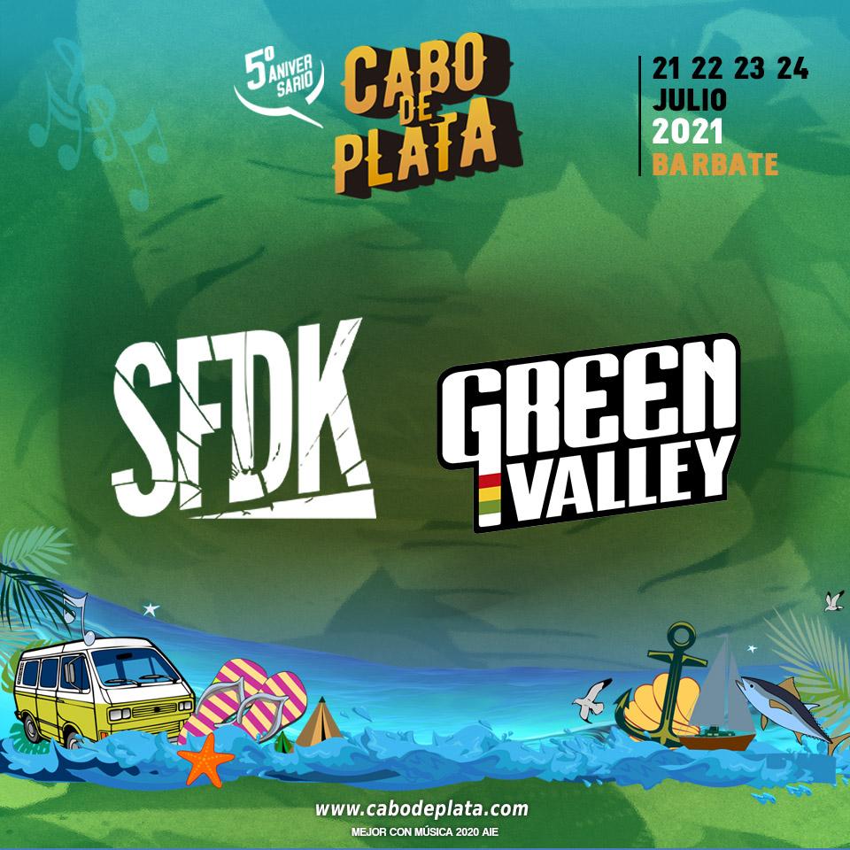 El Festival CABO DE PLATA se prepara fuerte para 2021 y confirma a SFDK y a GREEN VALLEY